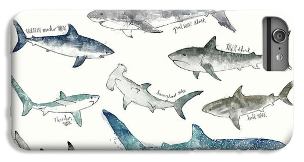 Sharks - Landscape Format IPhone 6s Plus Case by Amy Hamilton