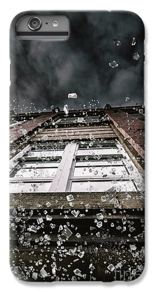 Explosion iPhone 6s Plus Case - Shattering Pieces Of Glass Falling From Window by Jorgo Photography - Wall Art Gallery