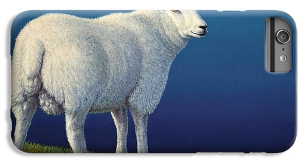 Sheep iPhone 6s Plus Case - Sheep At The Edge by James W Johnson
