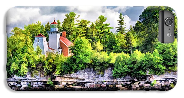 IPhone 6s Plus Case featuring the painting Sherwood Point Lighthouse by Christopher Arndt