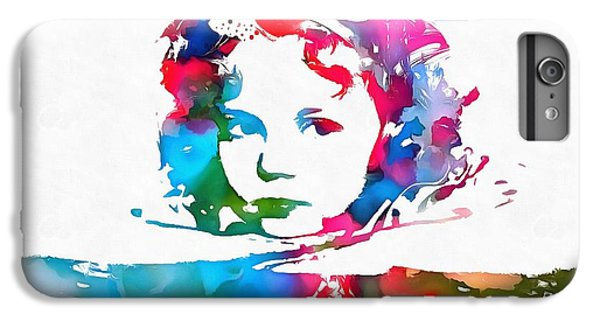 Shirley Temple Watercolor Paint Splatter IPhone 6s Plus Case by Dan Sproul