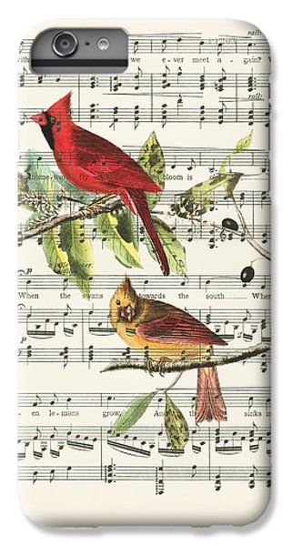 Swallow iPhone 6s Plus Case - Singing Cardinals by Delphimages Photo Creations
