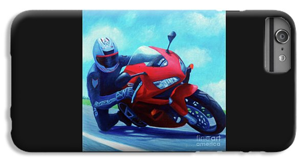 Motorcycle iPhone 6s Plus Case - Sky Pilot - Honda Cbr600 by Brian  Commerford