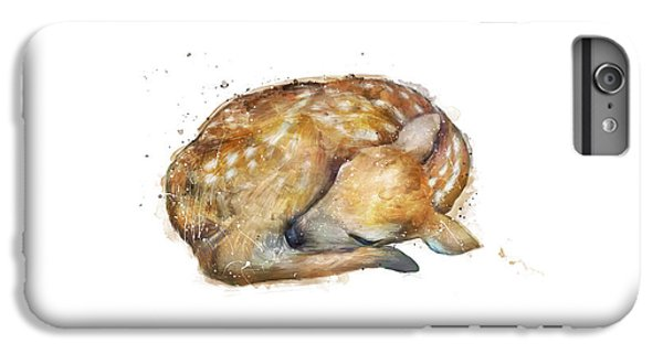 Deer iPhone 6s Plus Case - Sleeping Fawn by Amy Hamilton