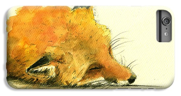 Fox iPhone 6s Plus Case - Sleeping Fox by Juan  Bosco
