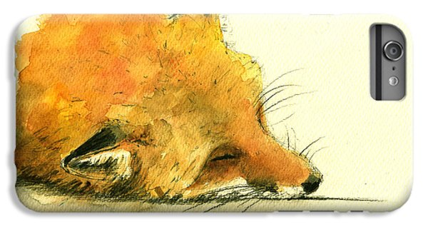 Sleeping Fox IPhone 6s Plus Case by Juan  Bosco