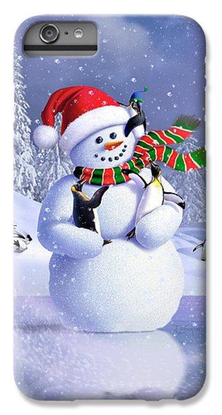 Penguin iPhone 6s Plus Case - Snowman by Jerry LoFaro
