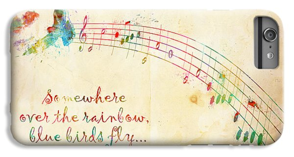 Rock And Roll iPhone 6s Plus Case - Somewhere Over The Rainbow by Nikki Smith