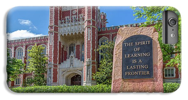 Oklahoma University iPhone 6s Plus Case - Spirit Of Learning Statue At The University Of Oklahoma  by Ken Wolter