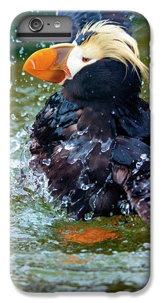 Puffin iPhone 6s Plus Case - Splish Splash by Mike Dawson