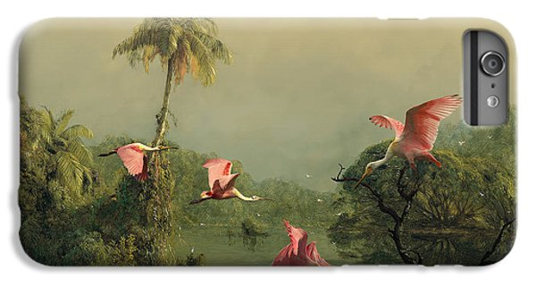 Spoonbills In The Mist IPhone 6s Plus Case by Spadecaller