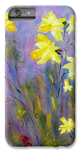 Spring Daffodils IPhone 6s Plus Case by Claire Bull