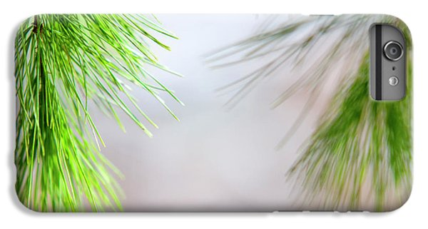 IPhone 6s Plus Case featuring the photograph Spring Pine Abstract by Christina Rollo