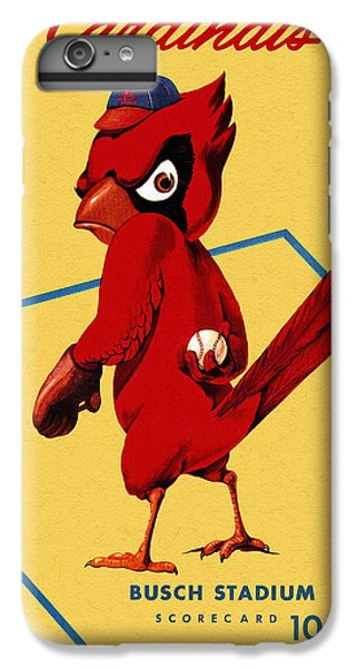 Baseball iPhone 6s Plus Case - St. Louis Cardinals Vintage 1956 Program by John Farr