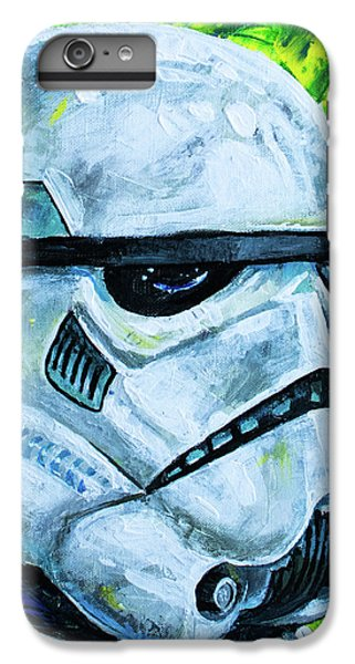 IPhone 6s Plus Case featuring the painting Star Wars Helmet Series - Storm Trooper by Aaron Spong