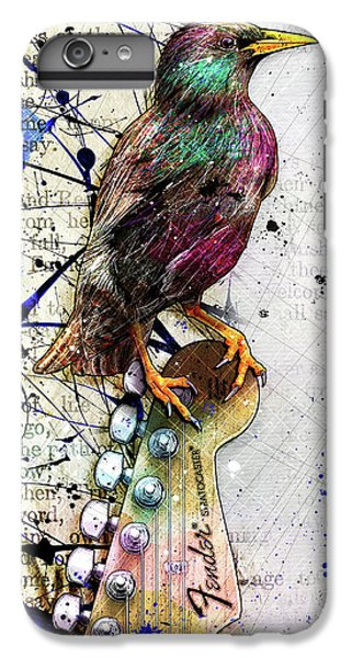 Starlings iPhone 6s Plus Case - Starling On A Strat by Gary Bodnar