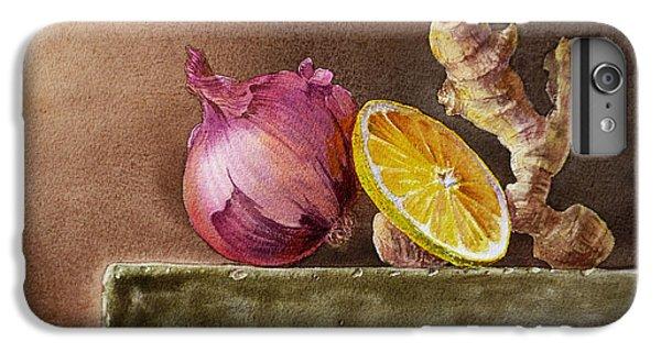 Still Life With Onion Lemon And Ginger IPhone 6s Plus Case by Irina Sztukowski