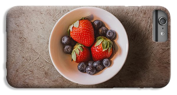 Blueberry iPhone 6s Plus Case - Strawberries And Blueberries by Scott Norris