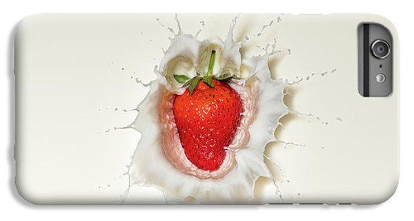 Strawberry iPhone 6s Plus Case - Strawberry Splash In Milk by Johan Swanepoel
