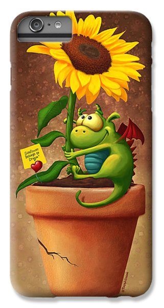 Dragon iPhone 6s Plus Case - Sunflower And Dragon by Tooshtoosh