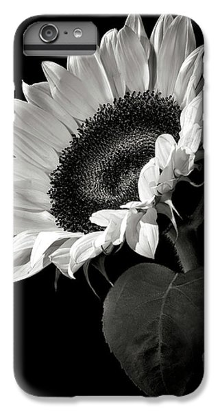 White iPhone 6s Plus Case - Sunflower In Black And White by Endre Balogh