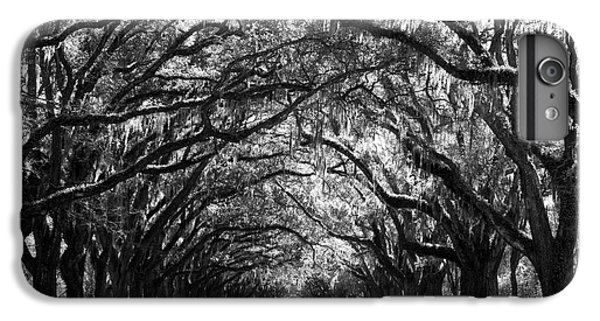 White iPhone 6s Plus Case - Sunny Southern Day - Black And White by Carol Groenen