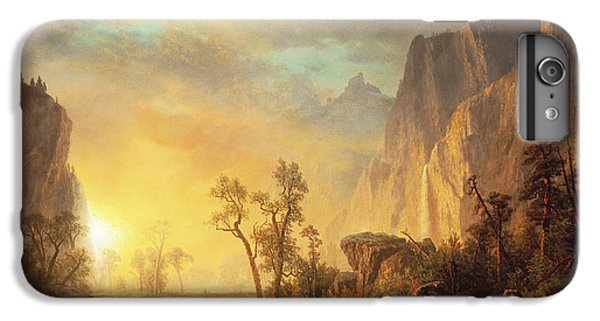 Mountain iPhone 6s Plus Case - Sunset In The Rockies by Albert Bierstadt