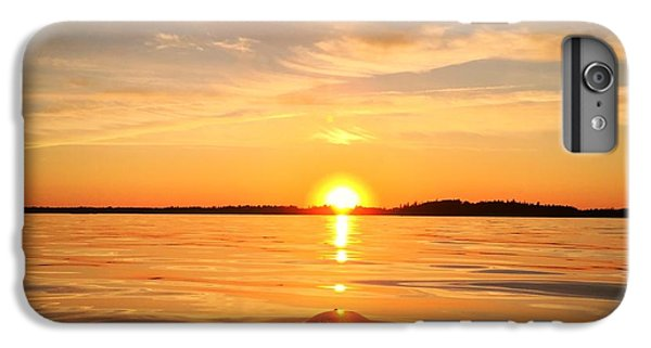 Ocean Sunset iPhone 6s Plus Case - Sunset Kayak 2 by Christine Sharp