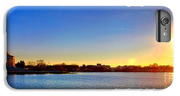 Jefferson Memorial iPhone 6s Plus Case - Sunset Over The Jefferson Memorial  by Olivier Le Queinec