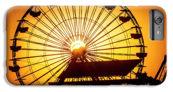 Venice Beach iPhone 6s Plus Case - Sunset Through Ferris Wheel by Garry Gay