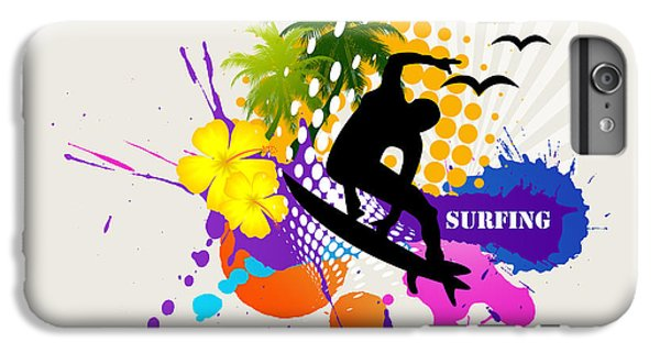 Venice Beach iPhone 6s Plus Case - Surfing by Mark Ashkenazi