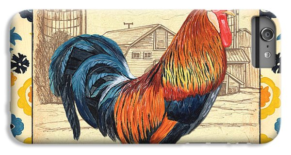 Suzani Rooster 2 IPhone 6s Plus Case by Debbie DeWitt