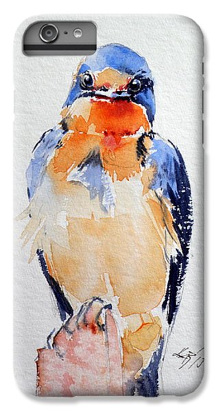 Swallow iPhone 6s Plus Case - Swallow by Kovacs Anna Brigitta
