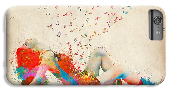 Explosion iPhone 6s Plus Case - Sweet Jenny Bursting With Music by Nikki Smith