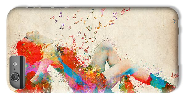Rock And Roll iPhone 6s Plus Case - Sweet Jenny Bursting With Music by Nikki Smith