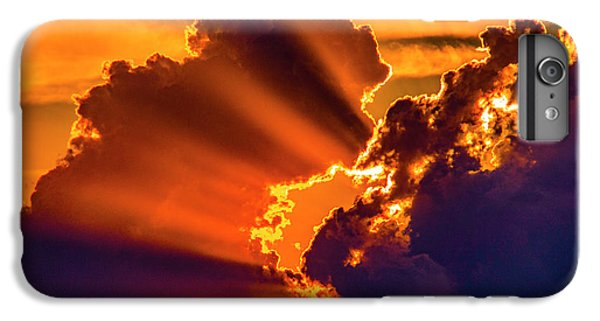 Nebraskasc iPhone 6s Plus Case - Sweet Nebraska Crepuscular Rays 010 by NebraskaSC