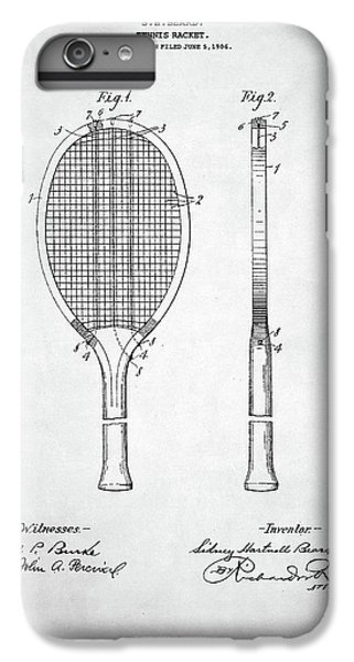 Serena Williams iPhone 6s Plus Case - Tennis Racket Patent 1907 by Zapista