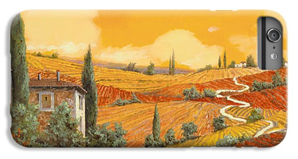 Sunflower iPhone 6s Plus Case - terra di Siena by Guido Borelli