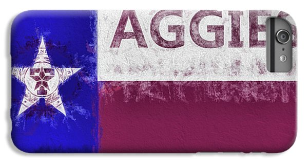 IPhone 6s Plus Case featuring the digital art Texas Aggies State Flag by JC Findley