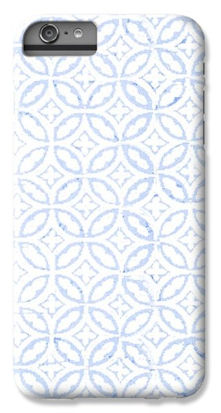 Pattern iPhone 6s Plus Case - Textured Blue Diamond And Oval Pattern by Gillham Studios