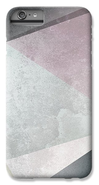 Floral iPhone 6s Plus Case - Textured Geometric Triangles by Pati Photography