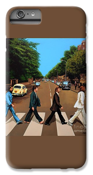 Musicians iPhone 6s Plus Case - The Beatles Abbey Road by Paul Meijering