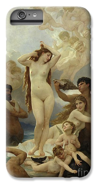 Dolphin iPhone 6s Plus Case - The Birth Of Venus by William-Adolphe Bouguereau