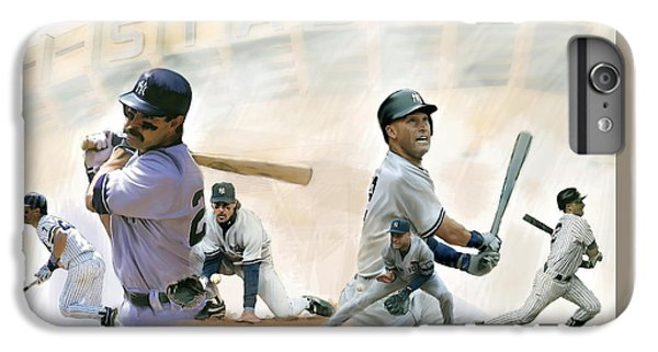 The Captains II Don Mattingly And Derek Jeter IPhone 6s Plus Case by Iconic Images Art Gallery David Pucciarelli