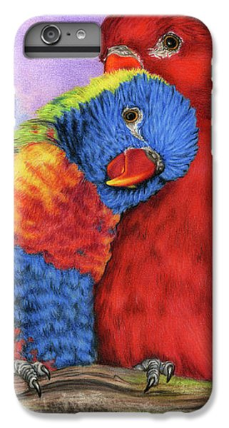 Parakeet iPhone 6s Plus Case - The Color Of Love by Sarah Batalka