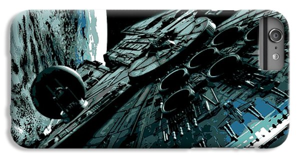 Space Ships iPhone 6s Plus Case - the Falcon by George Pedro