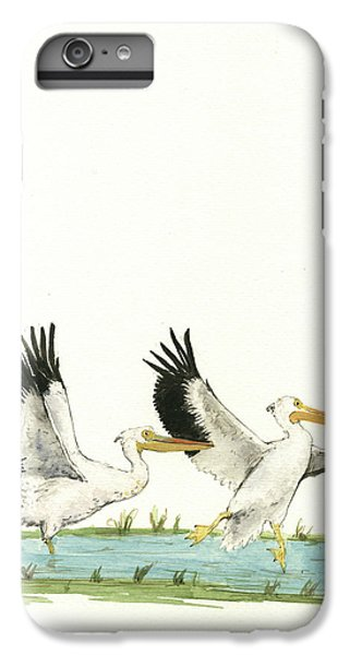 The Fox And The Pelicans IPhone 6s Plus Case by Juan Bosco
