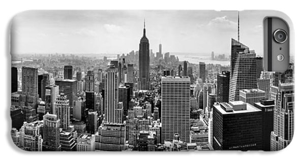 White iPhone 6s Plus Case - New York City Skyline Bw by Az Jackson