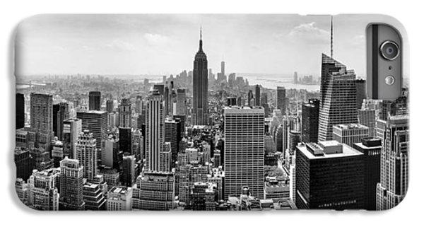 City Scenes iPhone 6s Plus Case - New York City Skyline Bw by Az Jackson