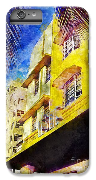 Miami Skyline iPhone 6s Plus Case - The Leslie Hotel South Beach by Jon Neidert